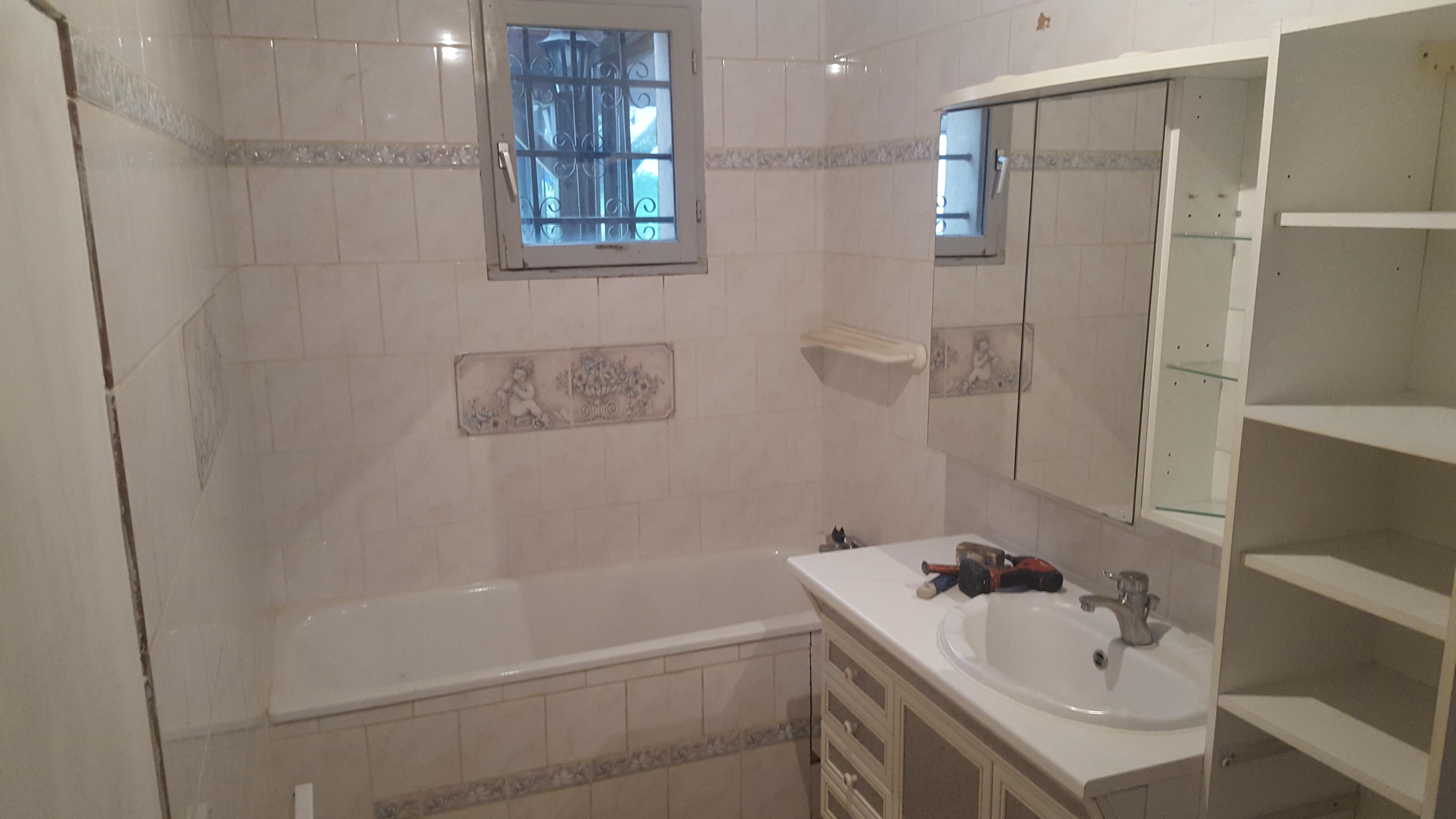 r novation de sdb avec baignoire bain douche monthlery. Black Bedroom Furniture Sets. Home Design Ideas
